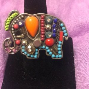 Multi-colored blinged out Elephant Ring